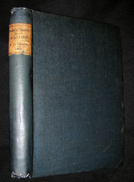 1886 Rare FIRST London Edition - WALDEN by Henry David Thoreau