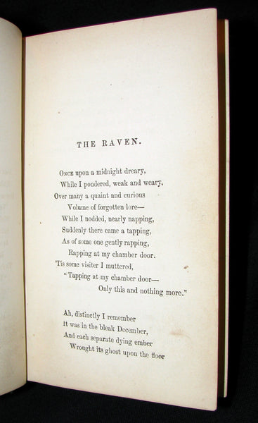 1872 Rare Victorian Book - Poems by Edgar Allan POE (The Raven, Lenore, Ulalume, ...)