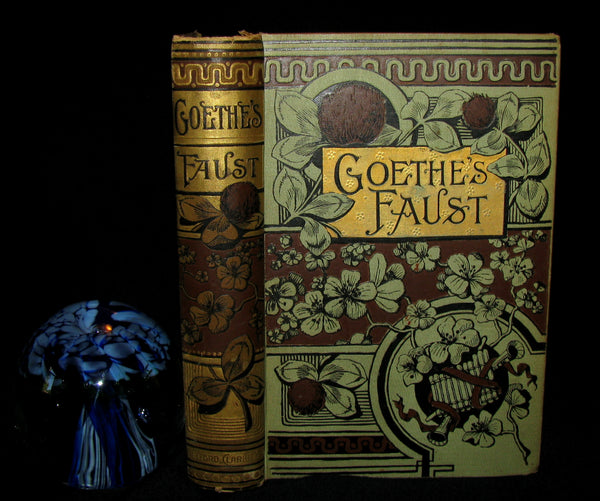 1880's Rare Victorian Book -  GOETHE'S FAUST in two parts illustrated