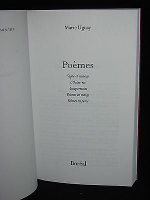 2005 - Marie Uguay - POEMES