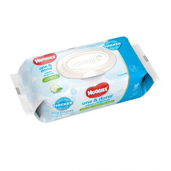 Huggies One and Done baby Wipes (56pcs) - mumspring