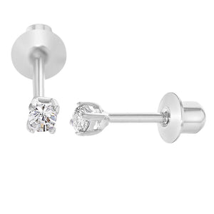 In Season Jewelry, Rhodium Plated Crystal Earrings - mumspring
