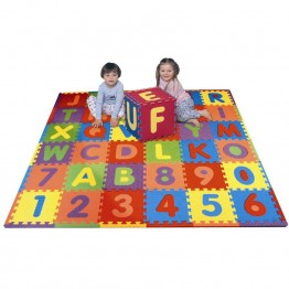 Soft Alphabet & Number Puzzle Play Mat Jigsaw 36pcs (A-Z & 0-9)  - mumspring