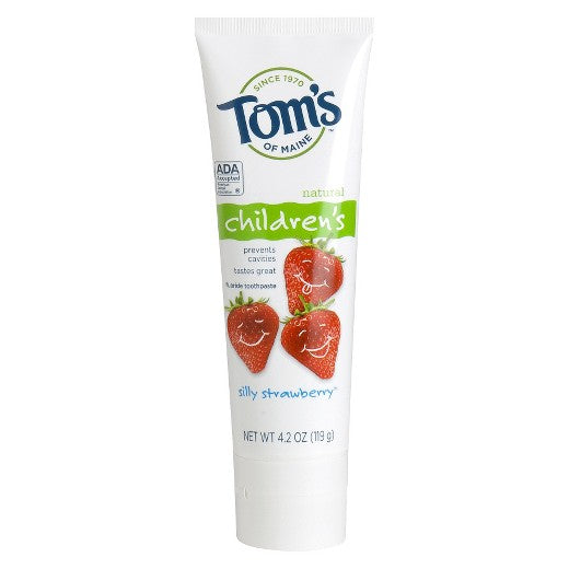 Tom's of Maine, Natural Children's Toothpaste Silly Strawberry - mumspring