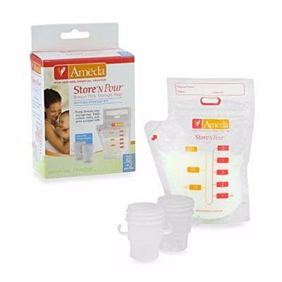 Ameda, Breast Milk Storage Bags (20pc Pack) - mumspring