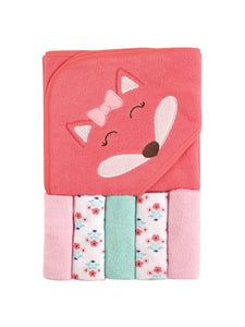 baby towel with five wash cloths