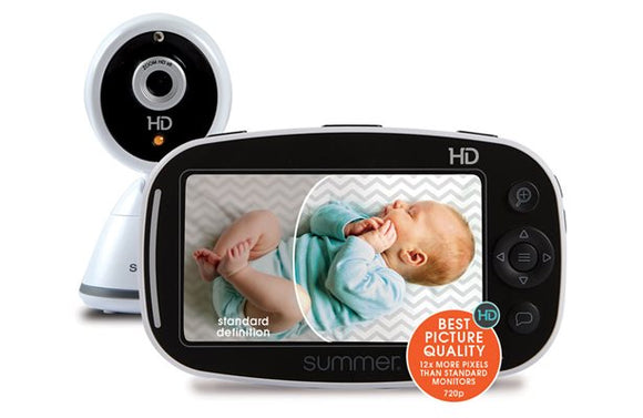 Summer Infant Baby Pixel Zoom HD Video Baby Monitor with 5-Inch Display and Remote Steering Camera – High Definition Baby Video Monitor with Clearer Nighttime Views and SleepZone Boundary Alerts