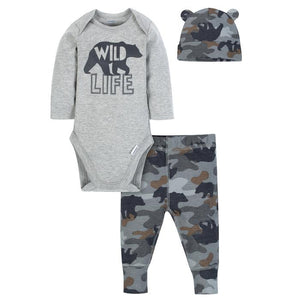 Gerber 3 Piece Onesie Set for Boys - mumspring
