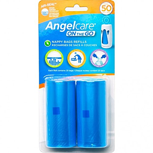 Angelcare, On-The-Go Travel Diaper Sack Refill (2 pk) - mumspring