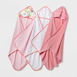 Cloud Island, Baby Lightweight Hooded Towel (Set of 3)