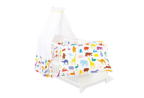 4-piece Crib Bedding Set, Happy Zoo - mumspring