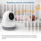 "VTech VM3261 Video Baby Monitor with Pan, Tilt, Zoom Camera, 1000ft Long Range, Auto Night Vision, 2.8"" Screen, 2-Way Audio Talk, Motion & Temperature Alert, Lullabies and Wall-mountable with Bracket"
