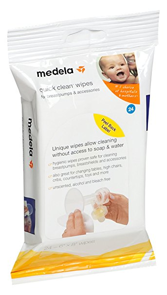 Medela, Quick Clean Breast Pump and Accessory Wipes
