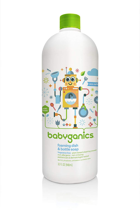 Babyganics Foaming Dish Soap Refill, 32 fl. oz - mumspring