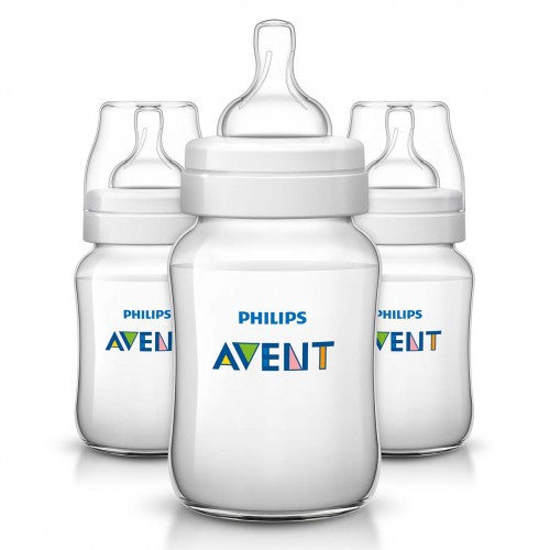 Philips Avent, Classic+ Anti-Colic Clear Bottle (3 Pk)