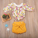 Floral Long Sleeved Romper with Suspender Pants - mumspring
