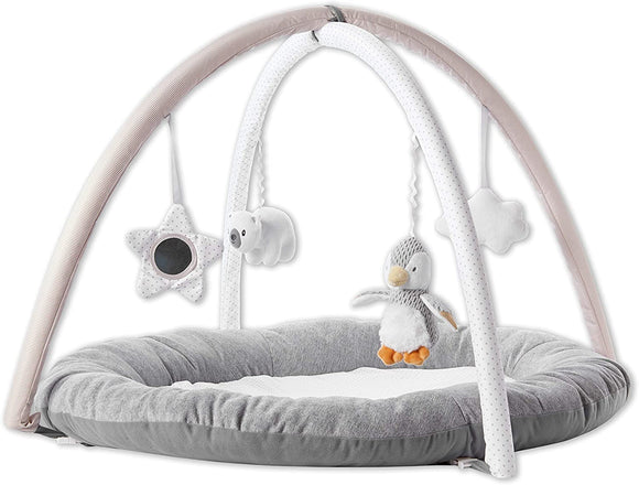 Nuby Baby Play Gym, with Padded Activity Play Mat Base