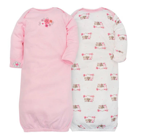 Kitten Cuff Gowns by Gerber-Pack of 2 - mumspring