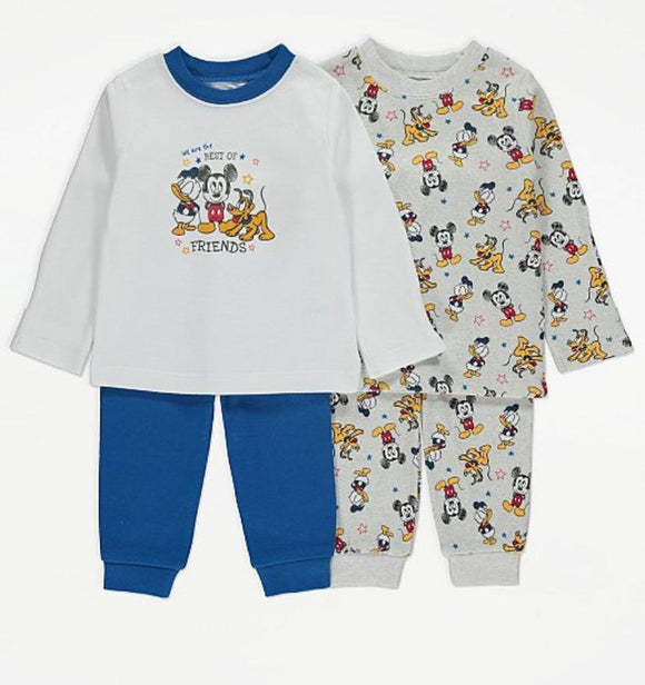 George Mickey Mouse & Friends Print Long Sleeve Pyjamas 1-Set