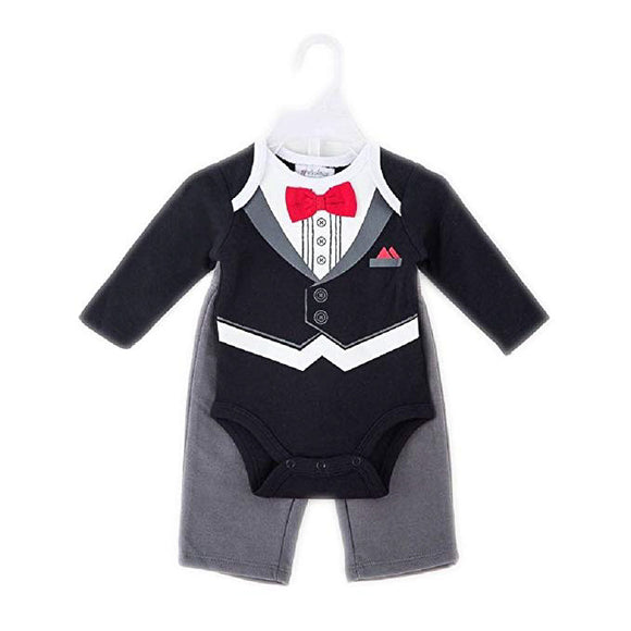 Tuxedo Design Baby Bodysuit and Pants