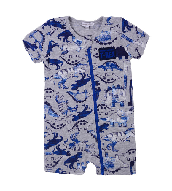 T-Rex Baby Short Rompers - mumspring