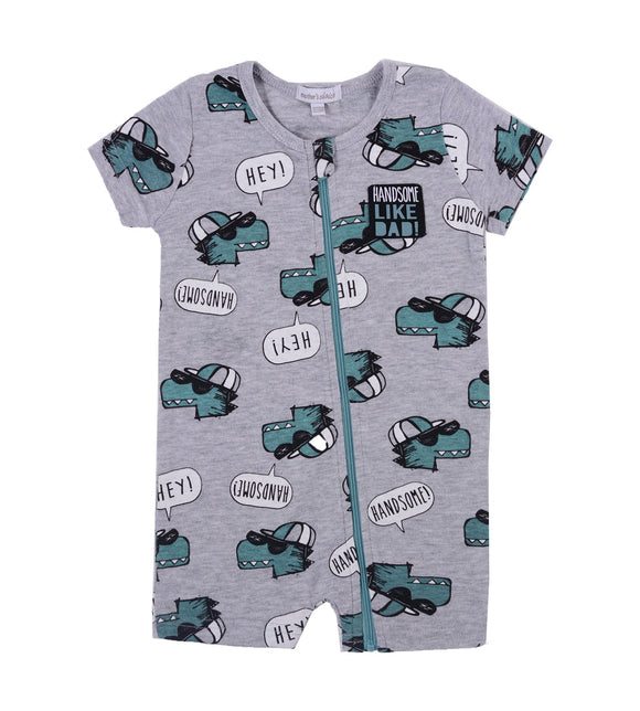 Cool Dragon Baby Short Rompers - mumspring