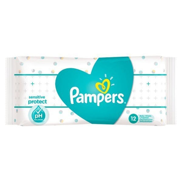 Pampers Sensitive Protect Baby Wipes(56pcs) - mumspring