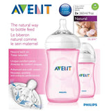 Philips Avent, Natural Bottle Coloured 260 ml (2Pk)