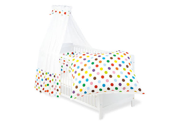 Textile Sets for Cradles and Cot Beds-Dots By Pinolino