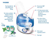 Vicks, Cool Mist Mini Ultrasonic Humidifier