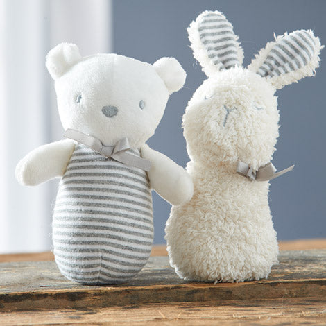 Silvercloud, Made With Love Bear and Bunny Chime Rattle (Pack of 2) - mumspring