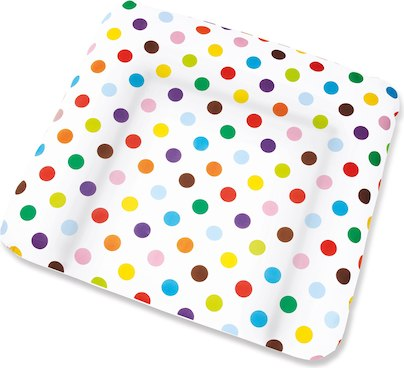 Changing Mats Cover-Multicoloured Dots By Pinolino - mumspring