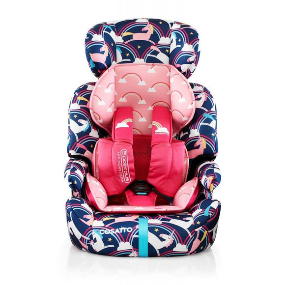 Cosatto Zoomi (5 Point Plus) 1/2/3 Car Seat-Magic Unicorns (New) - mumspring