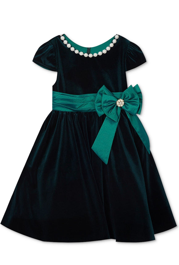 Rare Editions Embellished Velvet Dress - mumspring