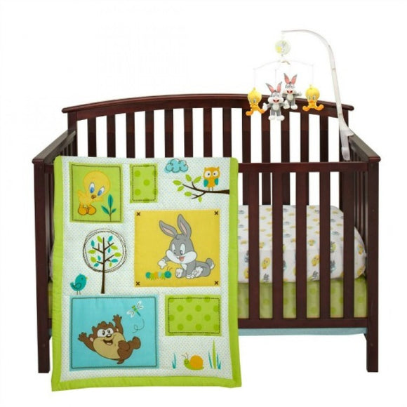 Looney Tunes 3 Piece Crib Bedding Set With 4pc Bumper