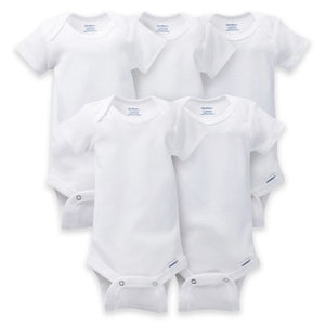 Gerber White Onesies-Pack of 5 - mumspring
