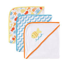Luvable Friends 3 Pack Hooded Towels