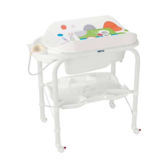 CAM Standing Baby Bath with Changer CAMBIO