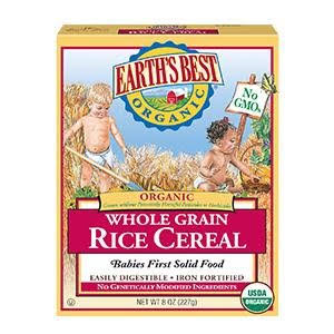 Earth's Best Organic Infant Cereal: Whole Grain Rice - mumspring