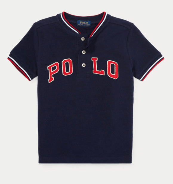 Polo Cotton Mesh Henley Shirt - mumspring