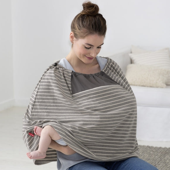 Skip Hop Hide & Chic Nursing Scarf - Grey Stripe