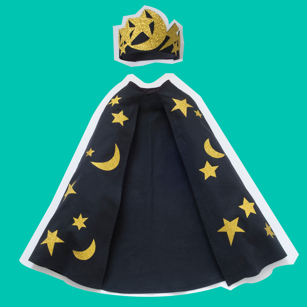 cosmic cape and crown set