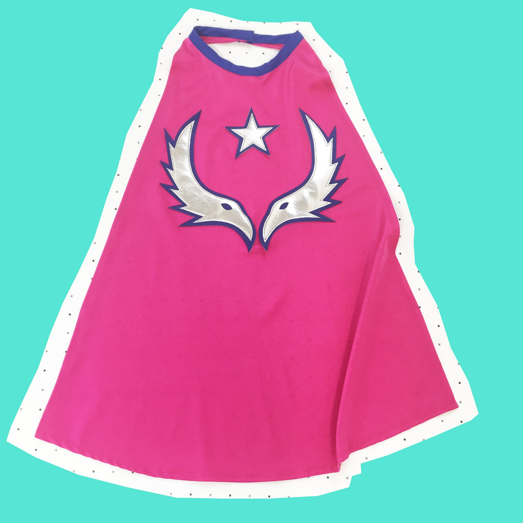NEW! Magenta Pink - where eagles dare cape