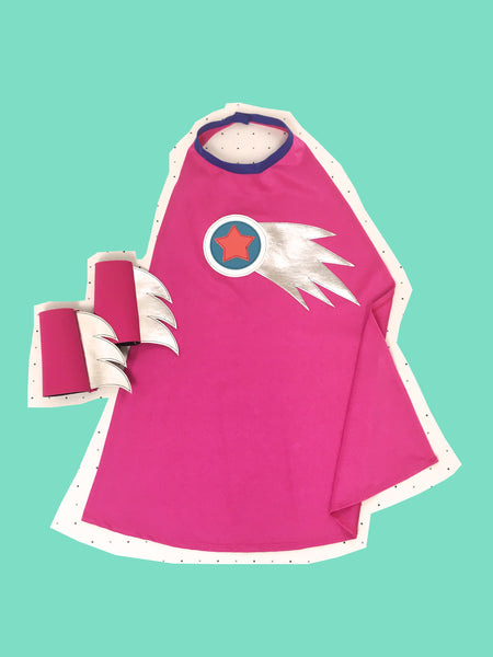 NEW! HOT Pink Cosmic cape