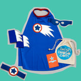blue COMET superHERO costume set