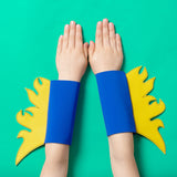 superhero FLAME cuffs (blue)