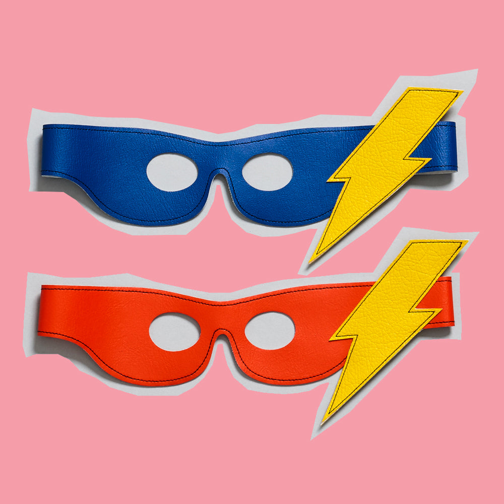 lightening bolt SUPERHERO mask