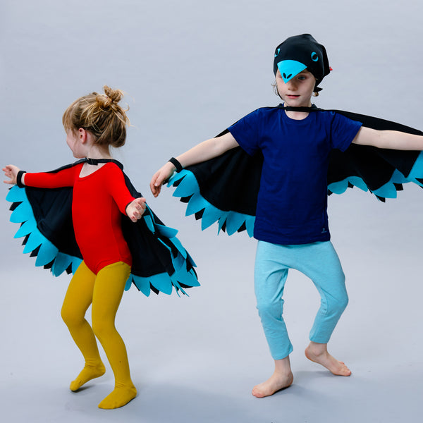 BIRD cape & headscarf set