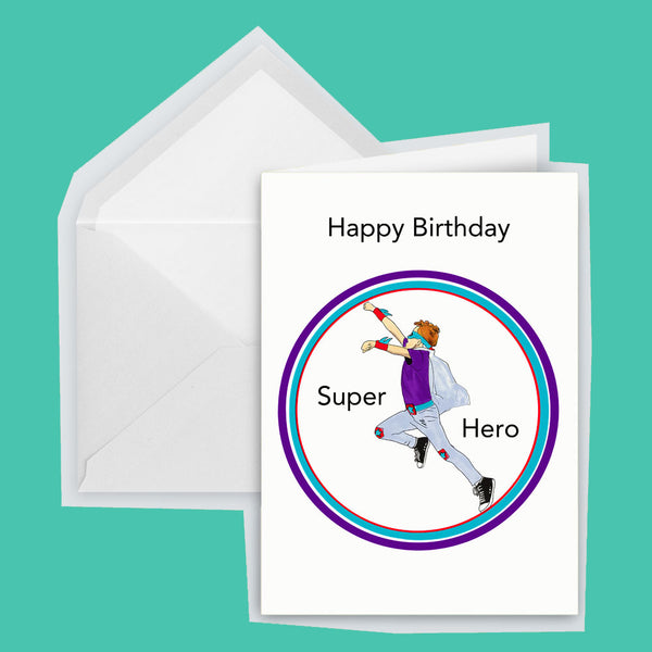 birthday card superhero