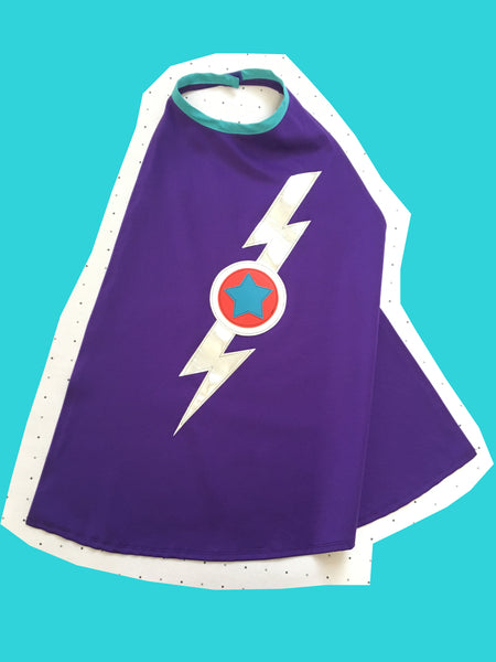 NEW! Purple lightening cape